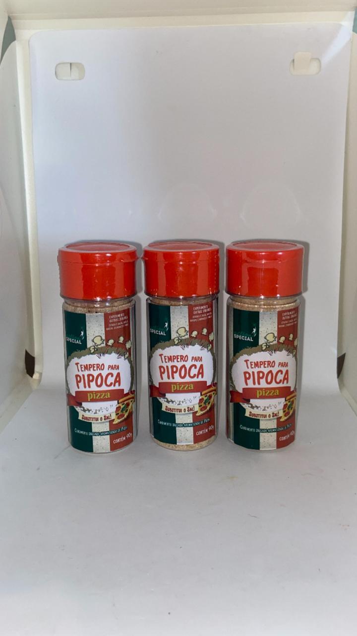 Tempero para Pipoca Gourmet Salgada Sabor Pizza 3 unid. 90 gr.  - Game Land Brinquedos