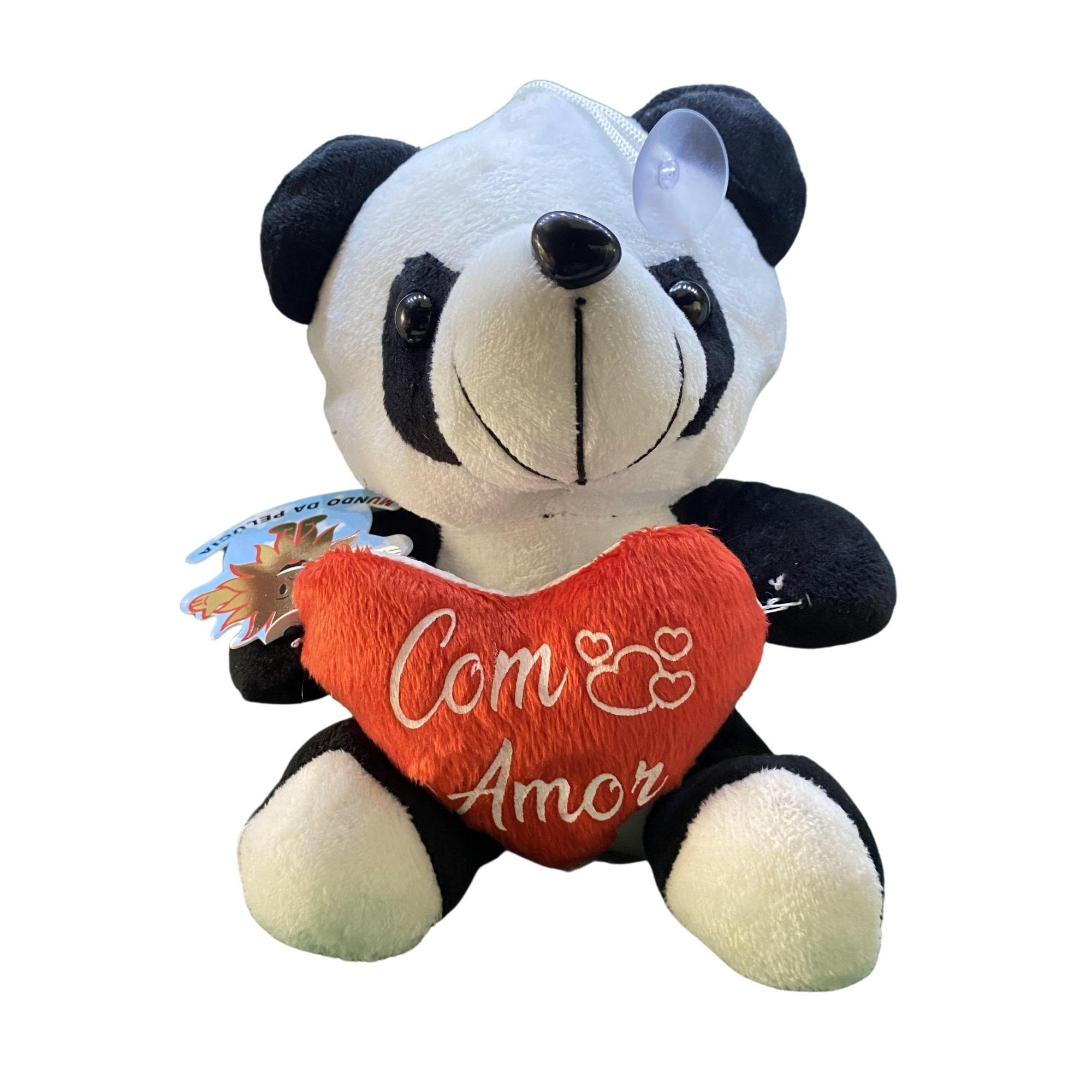 Urso de Pelucia Panda com coração   - Game Land Brinquedos