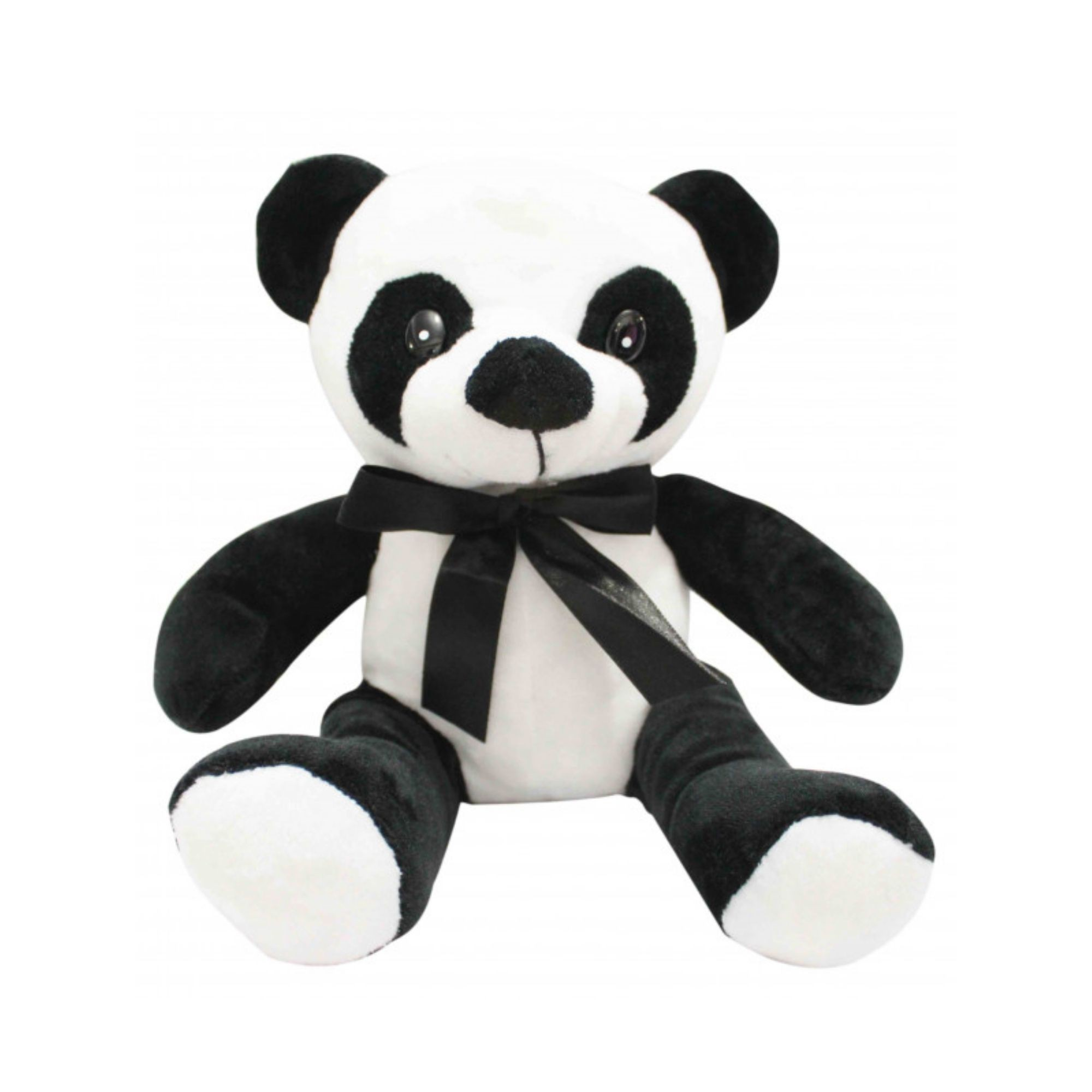 Urso de pelucia Panda Médio com Laço Lindo  - Game Land Brinquedos