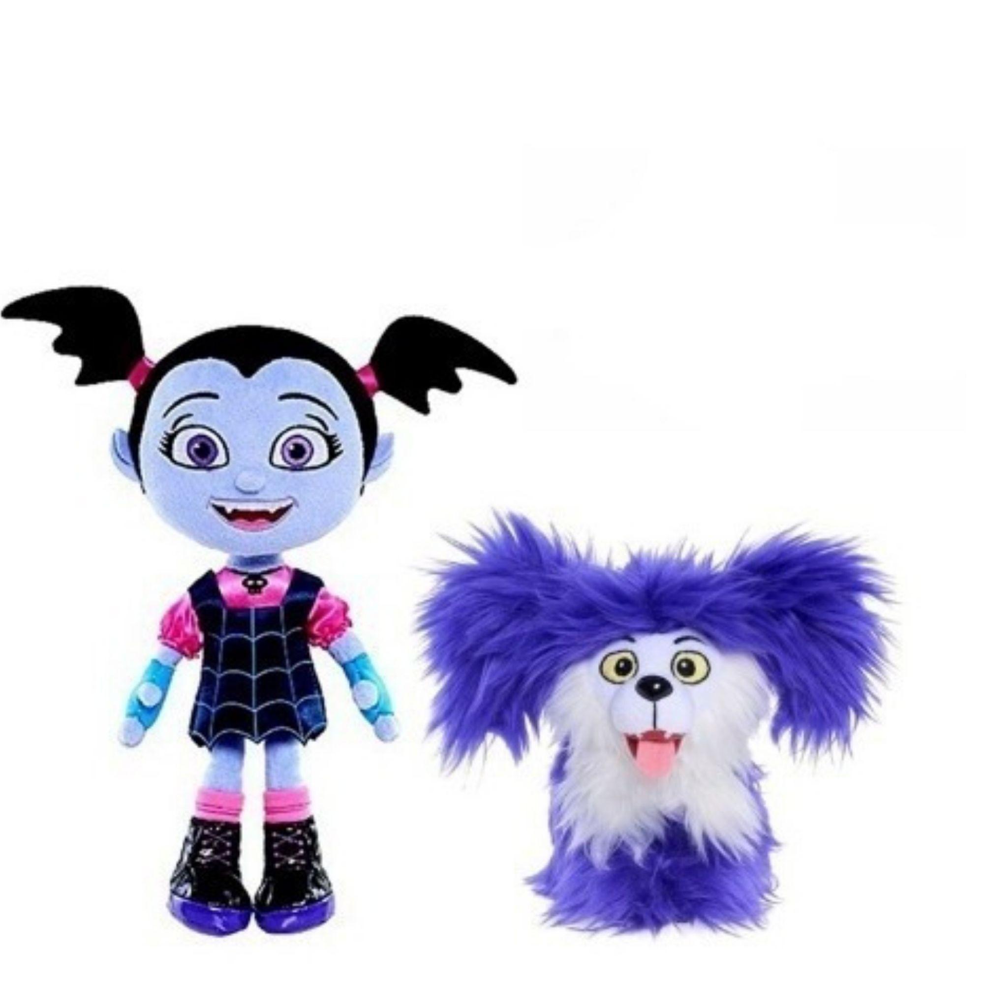 Vampirina Pelucia Kit com 3 Morcego, Woolfie e Vampirina Boneca  - Game Land Brinquedos