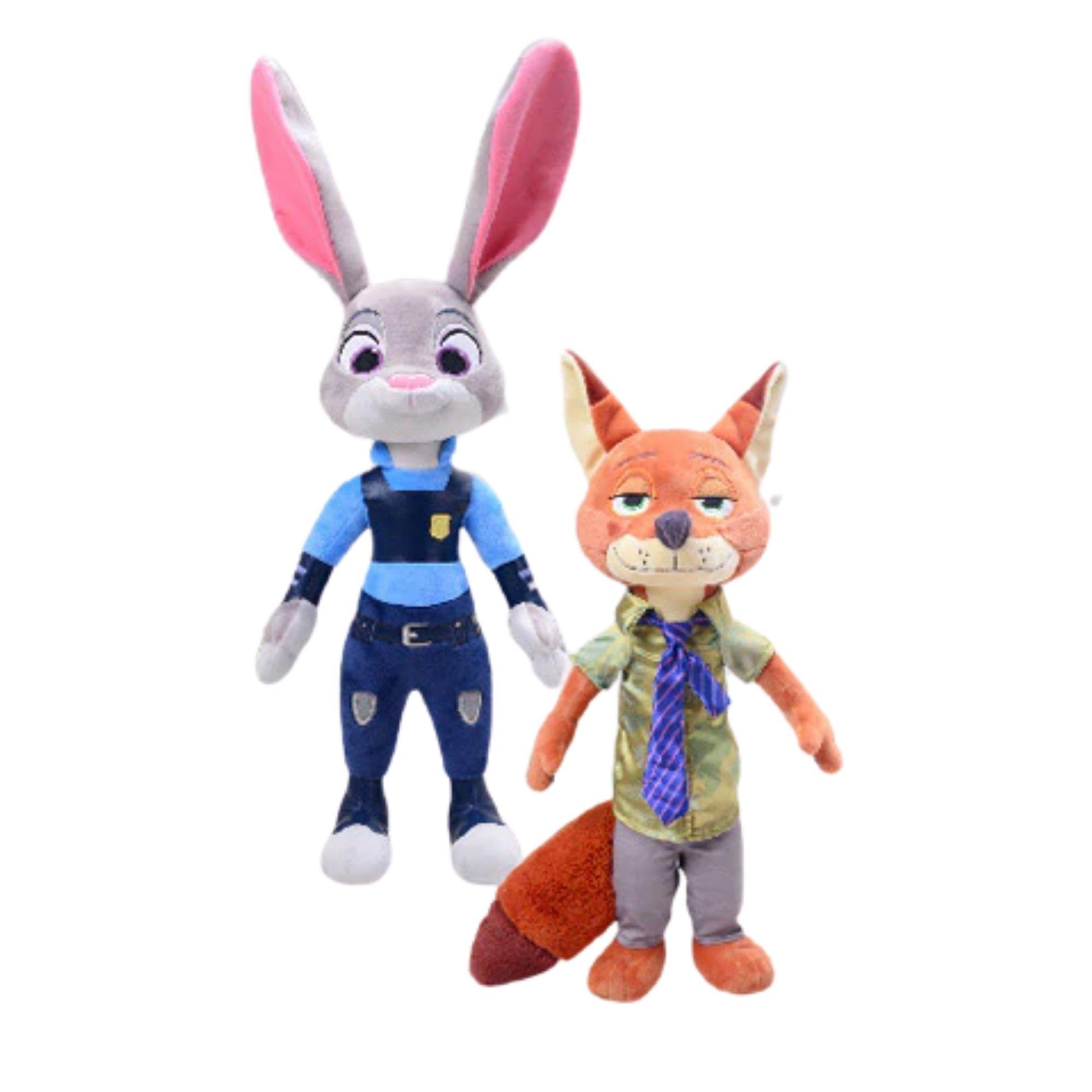 Zootopia Pelucia Judy Hopps e Nick Wilde   - Game Land Brinquedos