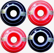 Roda Parts 49 mm - Laranja/Preta