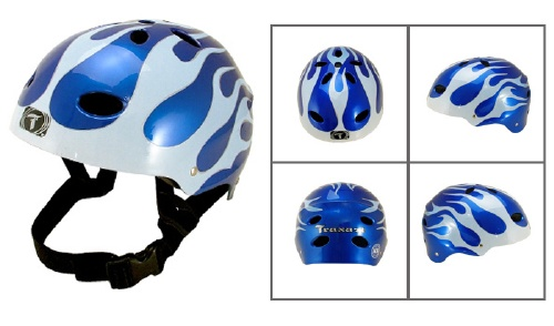 Capacete Adulto - BLUE FLAME