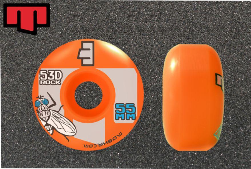Roda Moska Skate 55 mm Laranja