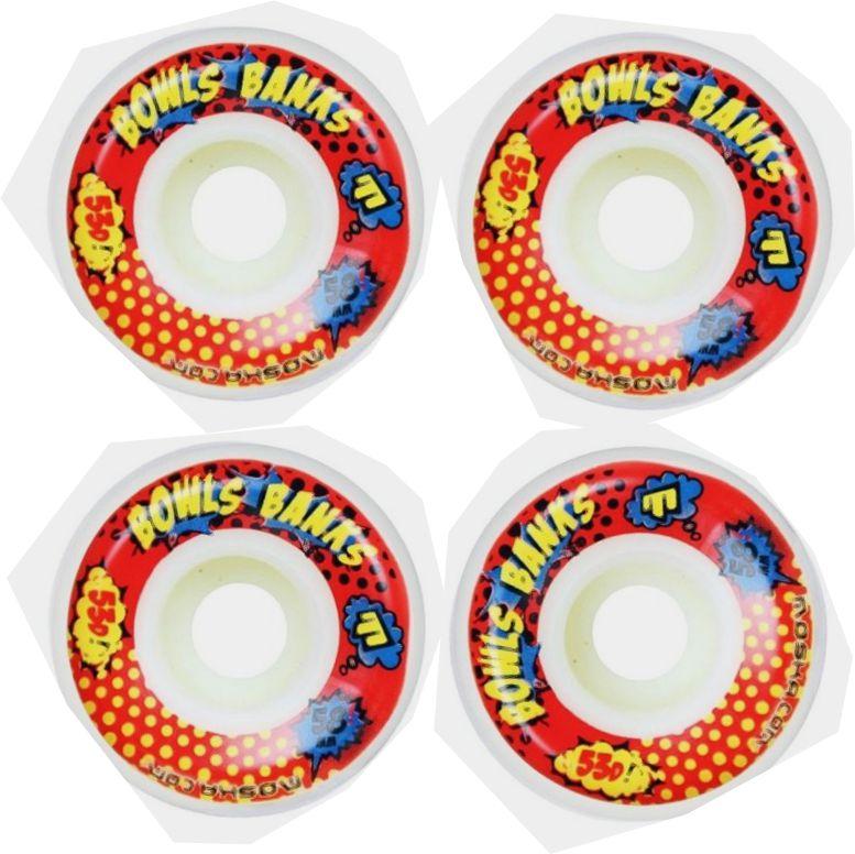 Roda Moska Skate 58 mm Bowls Banks -Branca