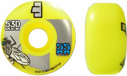 Roda Moska Skate 55 mm Amarela