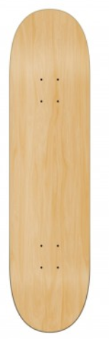 Shape de skate Wood Ligth Colors Branco
