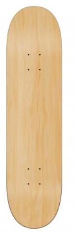 Shape de skate Wood Ligth Colors Branco