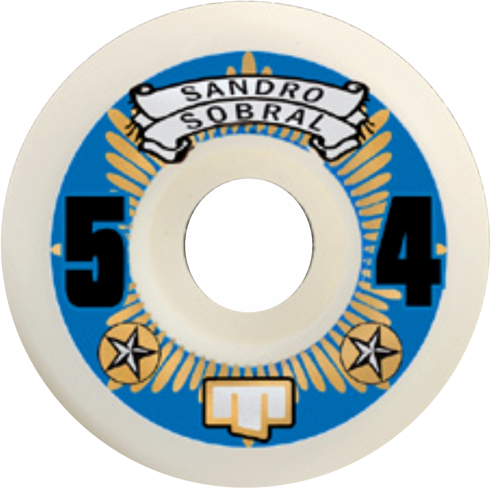 Roda Moska Skate  54 mm Sandro Sobral Branca