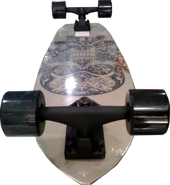 Skate Mini Long Cruiser Kronik Fish Skull Abec 7
