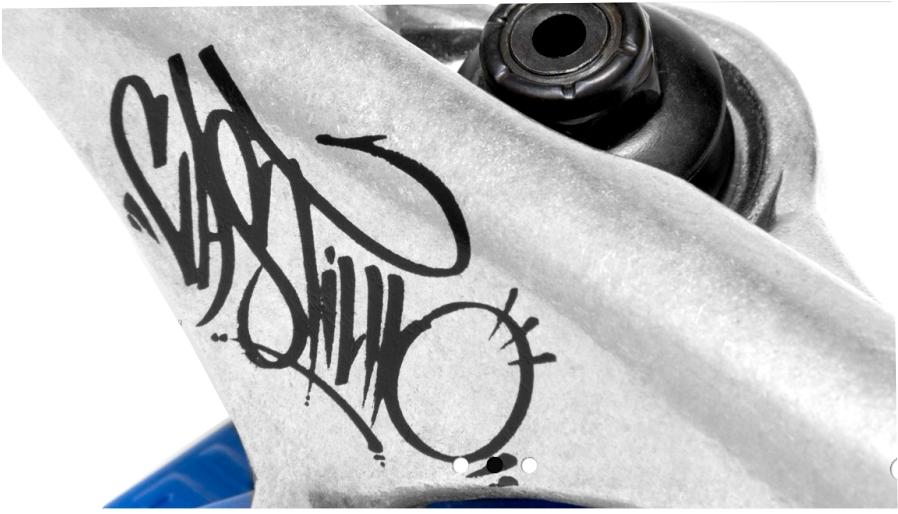 Truck Crail Skate Silver LOW 139 mm Typos Castilho Prata/Azul