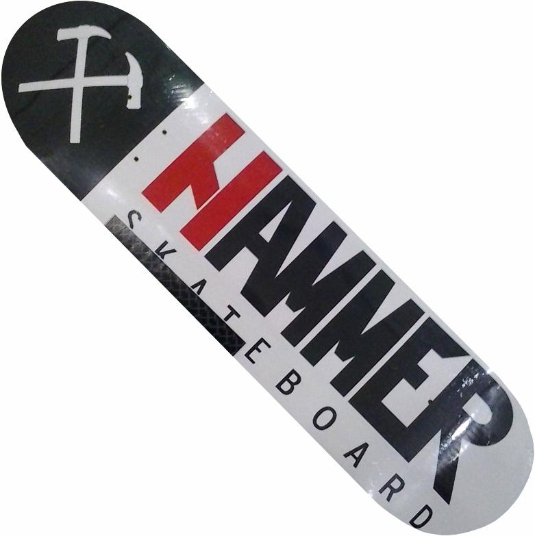 "Shape Hammer Logo Branco 7.75"""