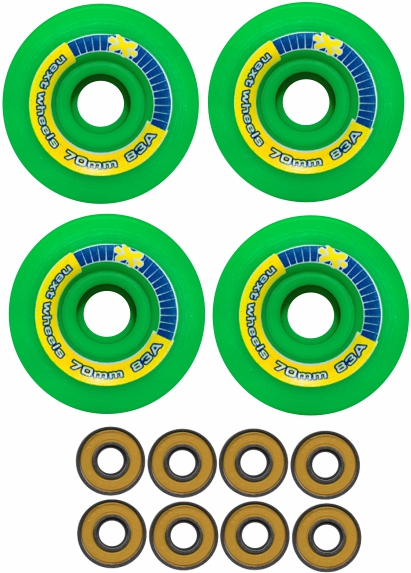 Roda Next Long 70 mm 83 A Brinde 8 rolamentos Abec 13