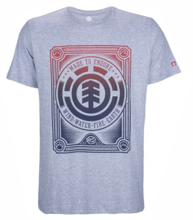 Camiseta Element Morris - Cinza Mescla