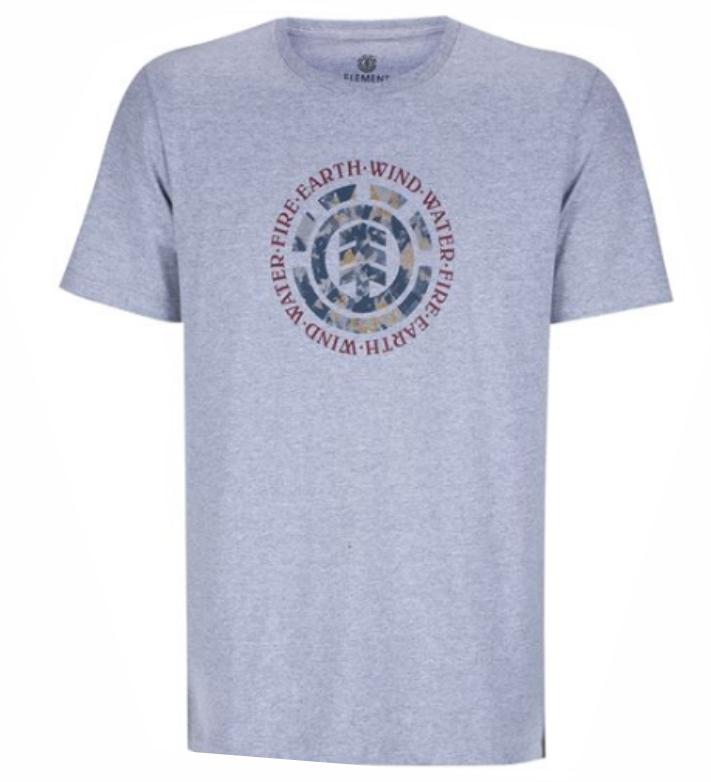 Camiseta Element Tree Logo Cinza Claro