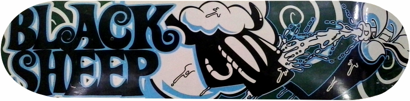Shape Black Sheep de Skate Agua