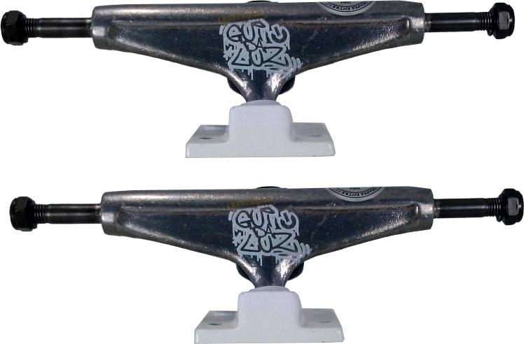 Truck Liga Skate Gui da Luz Censurado Prata/Branco