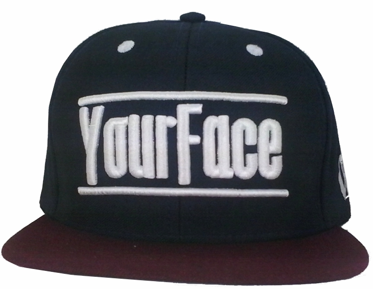 Bone Your Face Aba Reta Snapback Marinho/Vinho