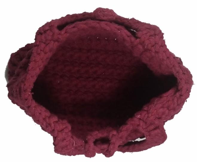 Bolsa em Crochê Bordô