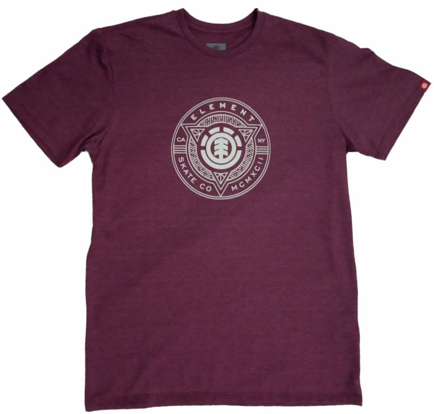 Camiseta Element Etch Vinho Mesclado