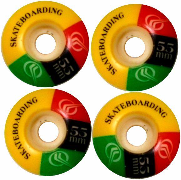 Roda de Skate 55 mm + 8 rolamentos abec 13