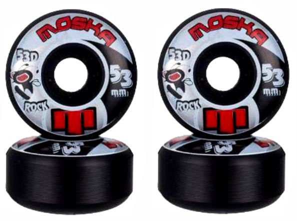 Roda Moska Skate 53 mm Preta