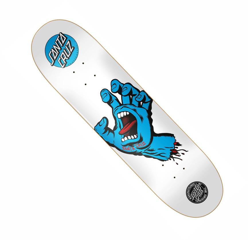 "Shape Santa Cruz Powerlyte Hand Screaming Branco 8,25"""