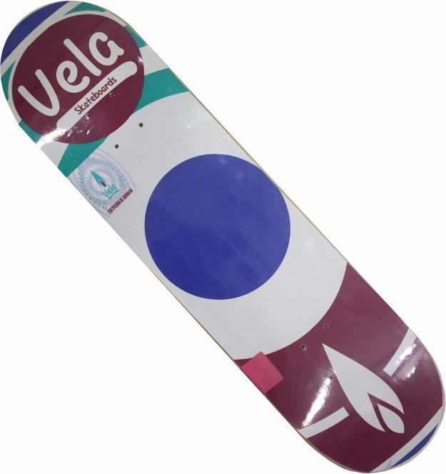 Shape Vela Marfim para skate Alvo