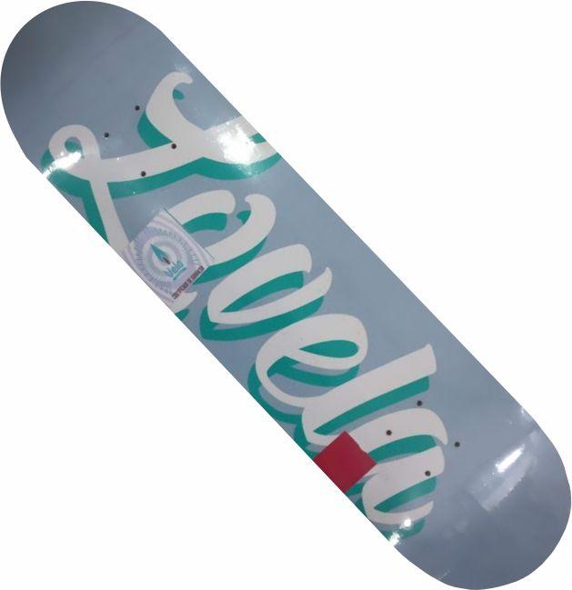 Shape Vela Marfim para skate Lovela azul claro