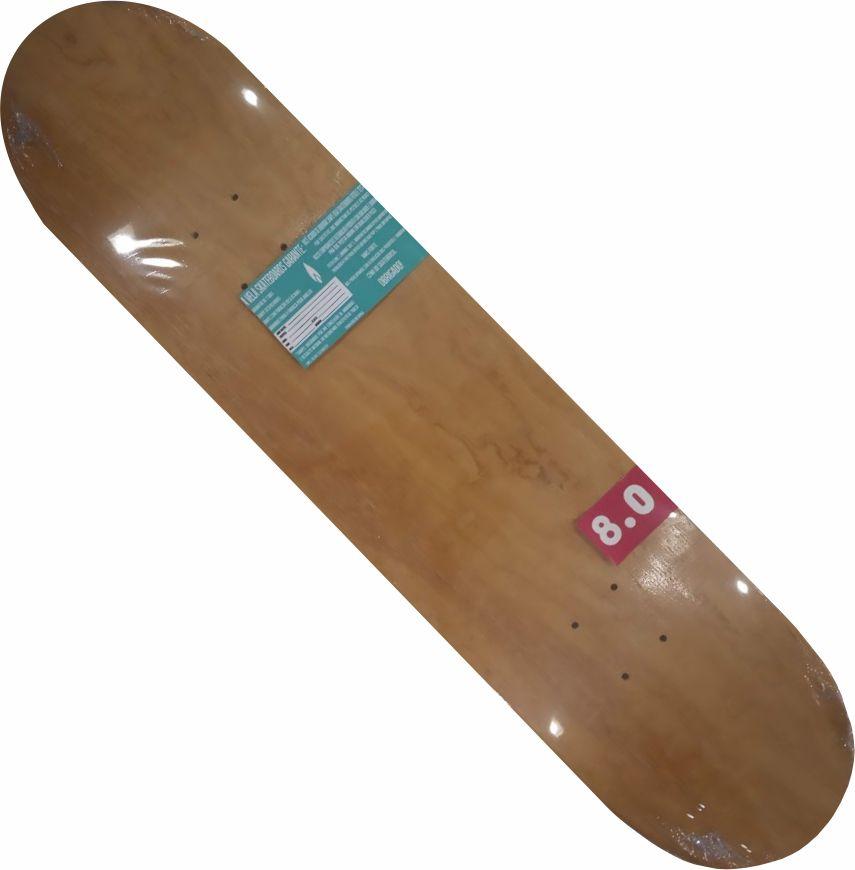 Shape Vela Marfim para skate verde/branco