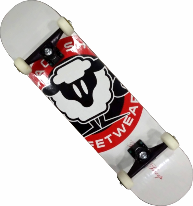 Skate Black Sheep Montado Completo Pro 1A Next Stick Branco