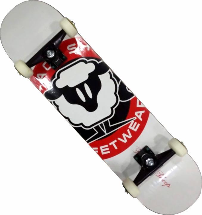 Skate Black Sheep Montado Completo Pro 1A Next Stick Branco