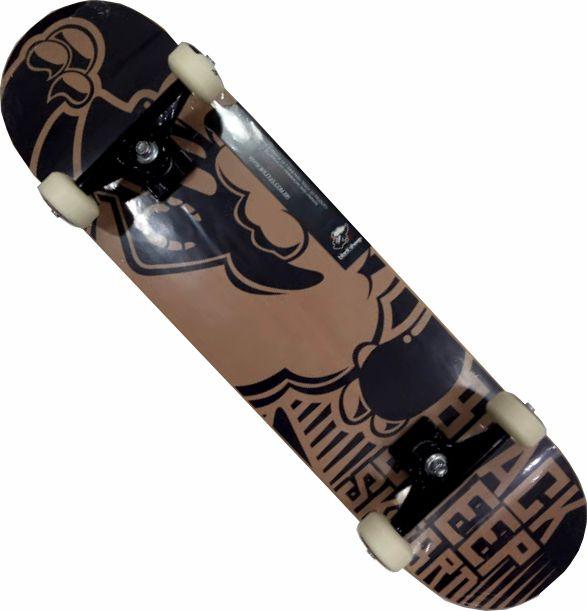 Skate Black Sheep Montado Completo Profissional Stick Abec 11 Marrom
