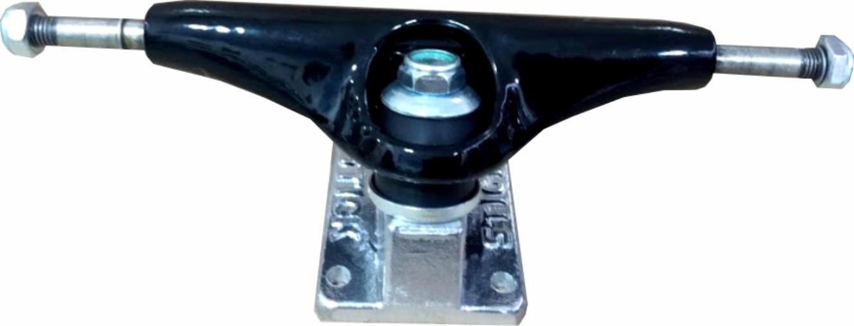 Skate Black Sheep Montado Completo Profissional Stick Abec 11 Preto/Cinza