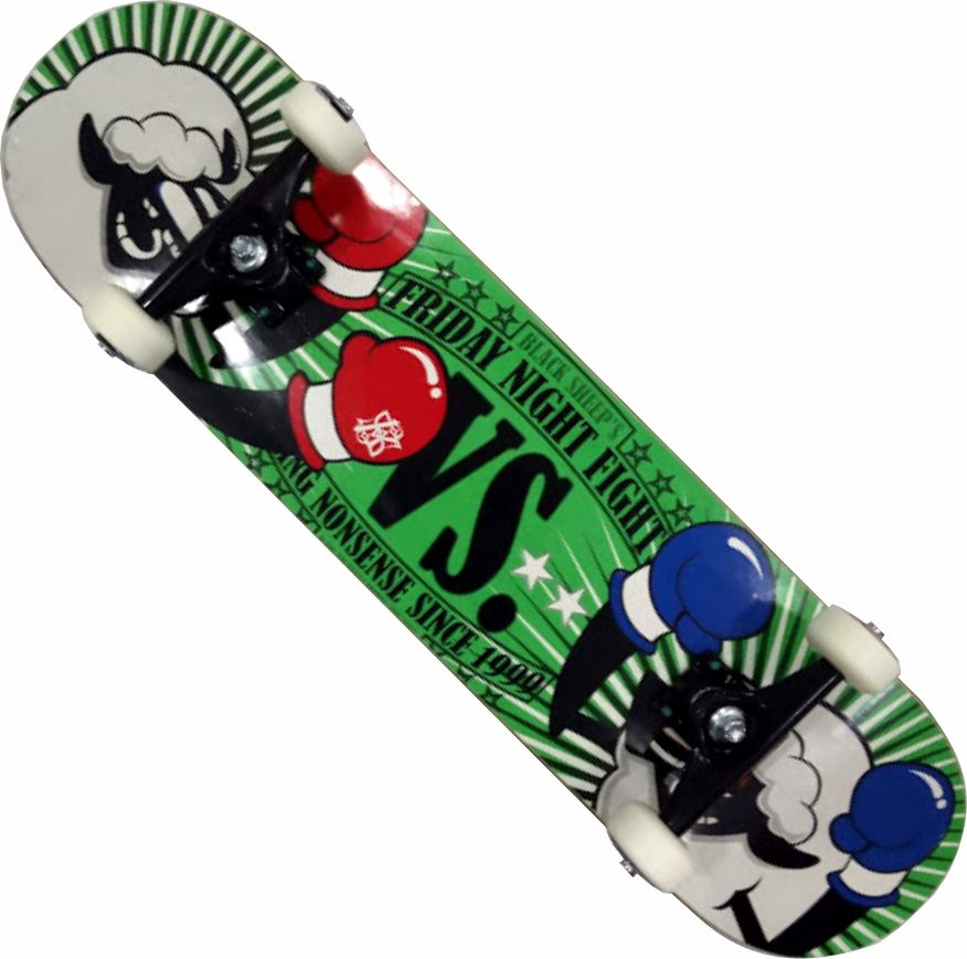 Skate Black Sheep Montado Completo Profissional Stick Abec 13 Verde