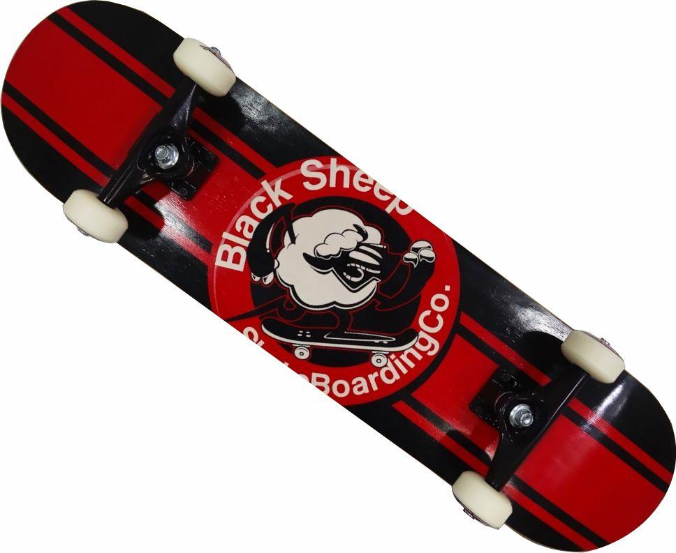 Skate Black Sheep Montado Completo Profissional Stick Abec 15 Vermelho