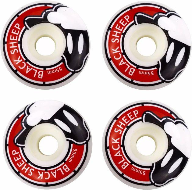 Skate Black Sheep Montado Completo Profissional Stick Abec 7 Preto