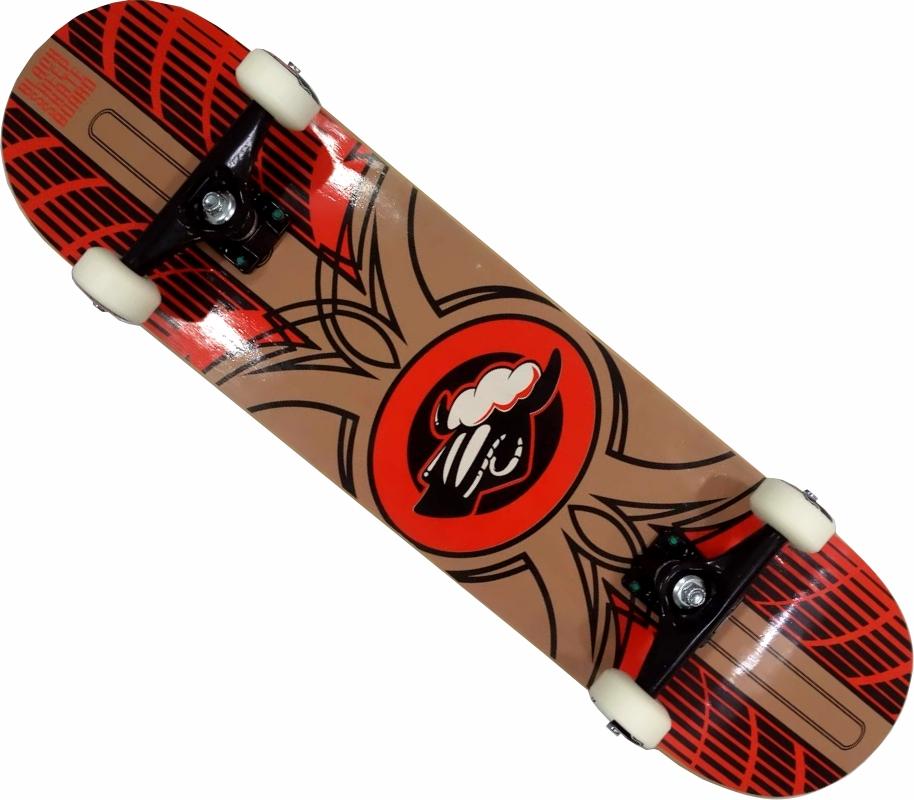 Skate Black Sheep Montado Completo Profissional Stick Next FCR Laranja