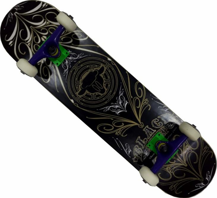 Skate Black Sheep Montado Completo Profissional Traxart FCR Preto/Dourado