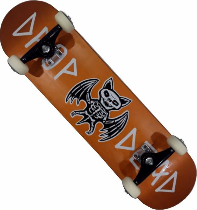 Skate Completo Montado Profissional Drop Dead NK3 Next Stick FCR Orange
