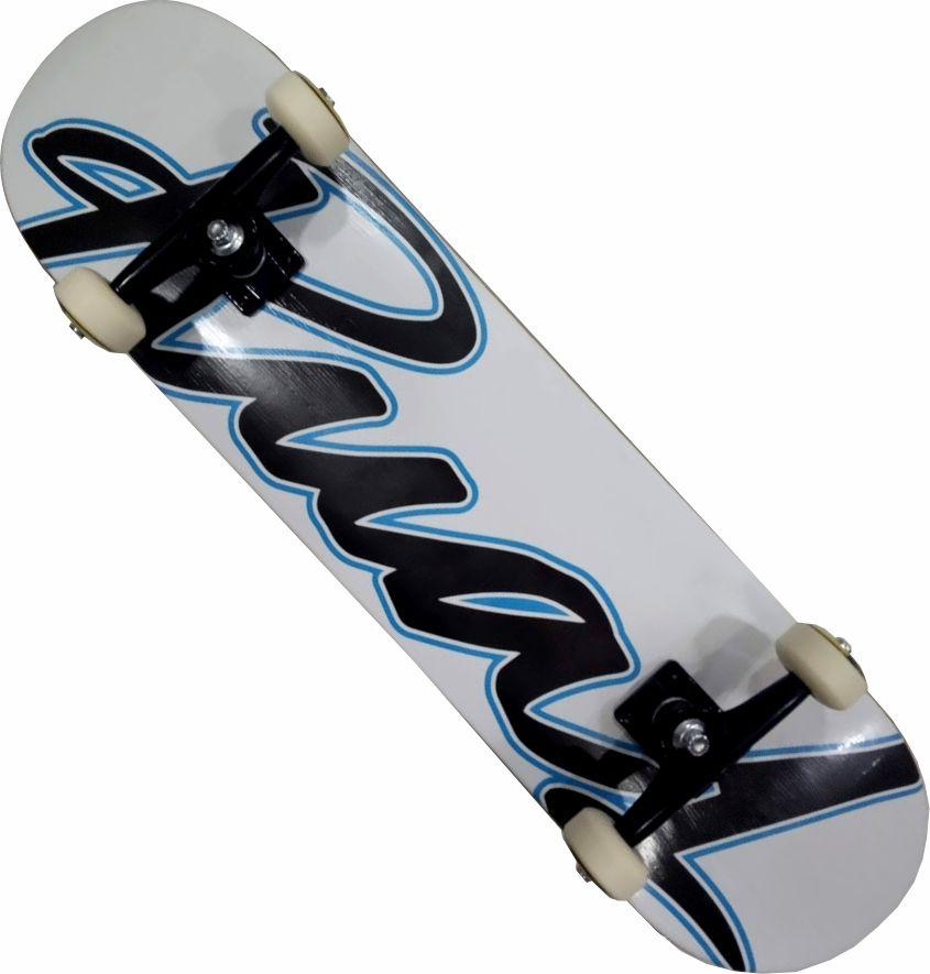 Skate Completo Montado Profissional Rua 1 Next Stick Abec 11 Branco