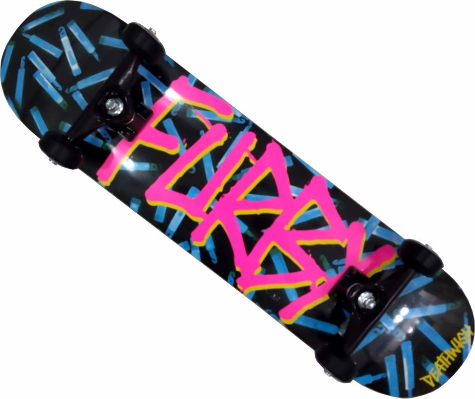 Skate Deathwish Furry Montado Completo Profissional Moska Kolami Stick