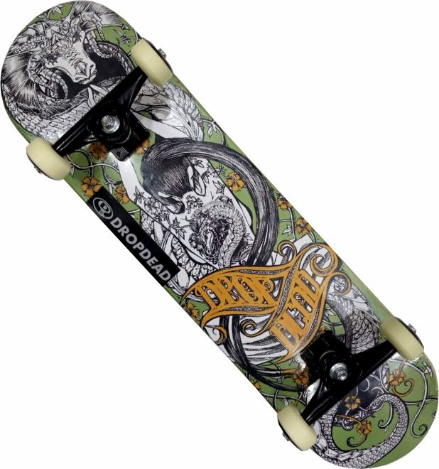 Skate Drop Dead Montado Completo Profissional Oriental Stick Abec 11 Black Sheep