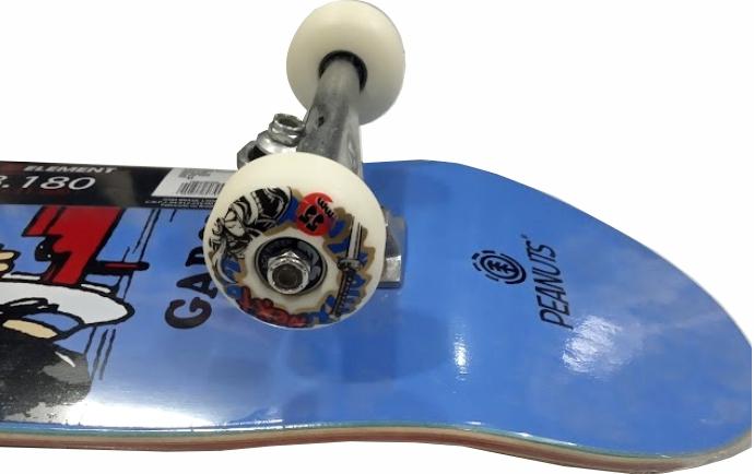Skate Element Montado Completo Pro Garcia Peanuts Metallum Next BS