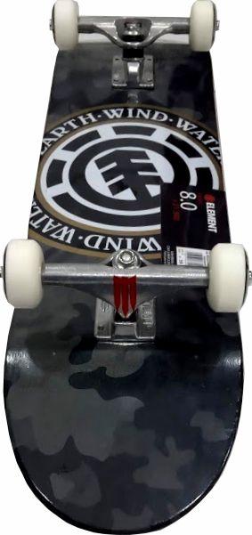 Skate Element Montado Completo Bark Camo Seal Reds Bones Metalum Next Camuflado