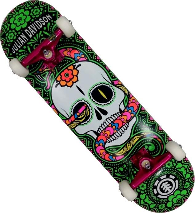 Skate Element Montado Completo Cavalera Julian Intruder Moska Kolami  Color