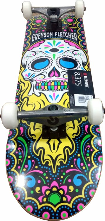 Skate Element Montado Completo Greyson Fletcher Moska Liga Black Seep Color
