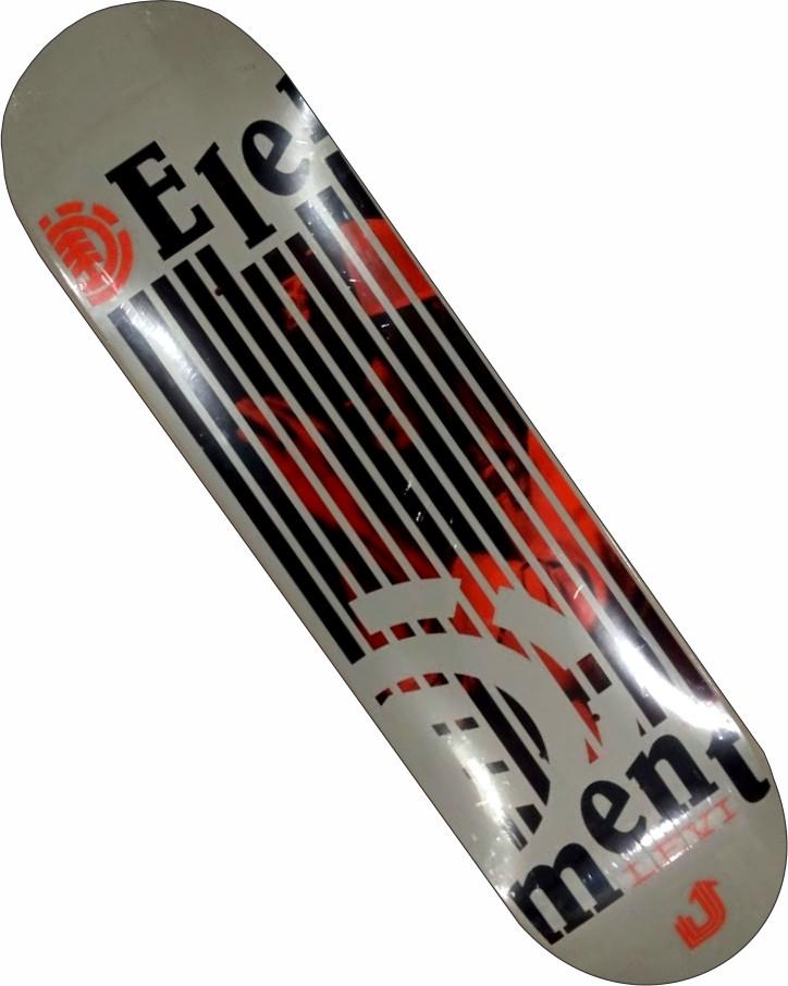 Skate Element Montado Completo Levi Stronger Next BS - Cinza
