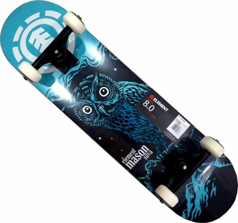 Skate Element Montado Completo Mason Nigth Crail Moska BS Coruja