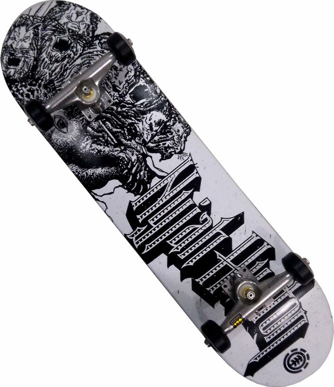 Skate Element Montado Completo Nyjah Moska/Intruder/Minilogo